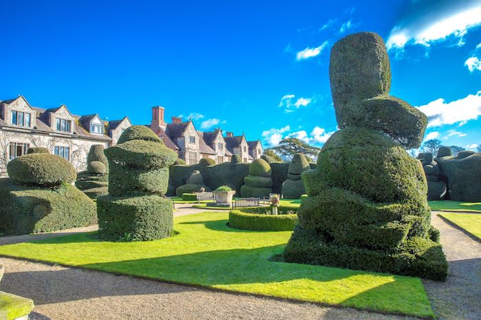 Exterior of Topiary Garden at Billesley Manor wedding venue.